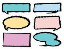 Knall Art Style Speech Bubble Set Lizenzfreies Stockbild
