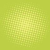Knall-Art Yellow Green Dots Comic-Hintergrund-Vektor-Schablonen-Design Lizenzfreie Stockfotos