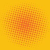 Knall-Art Yellow Orange Dots Comic-Hintergrund-Vektor-Schablonen-Design Stockfotografie