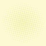 Knall-Art Yellow Pastel Dots Comic-Hintergrund-Vektor-Schablonen-Design Lizenzfreies Stockbild