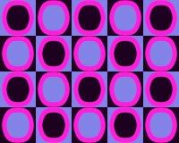 Knall-Kunst-Alternativoval-Muster-pinkfarbenes schwarzes Blau Stockbilder