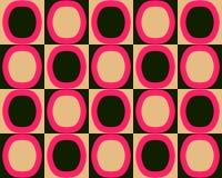 Knall-Kunst-Alternativoval-Muster-rote schwarze Orange Stockfotografie