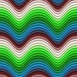 Knall-Kunst-Farbe bewegt das blaue nahtlose Rot wellenartig Stockfoto