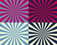 Knall-Kunst-Nova durch vier gelbes Blaues und rot Stockfotos