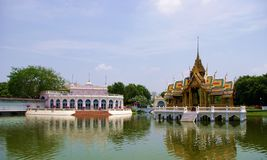 Knall-PA-im Palast in Ayutthaya Thailand Stockfotos