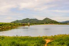 Knall Phra-Reservoir, Chon Buri, Thailand Der alte Palast in Bangkok Lizenzfreie Stockfotos