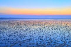 Küste und Himmel Stockfotografie