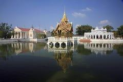 Knall-Schmerz Royal Palace - Ayutthaya, Thailand Stockfotografie