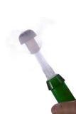 Knallende champagnecork Stock Foto's