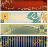 Knallende Moderne Banners Royalty-vrije Stock Afbeelding