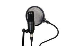 Knallfilter und Studio mic Stockfoto