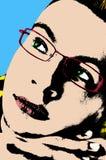 Knallkunstportrait eines durchdachten jungen Mannes Stockfotografie