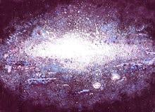 Knallsterne im Weltraum Stockfoto