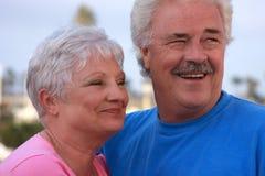 Knap bejaard paar stock foto