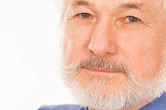 Knap bejaarde met baard Stock Afbeeldingen