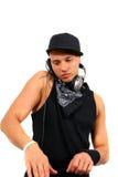 Knap DJ royalty-vrije stock foto's