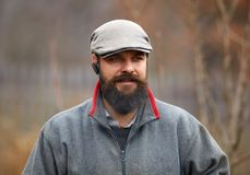 Knap jong landbouwersportret royalty-vrije stock foto's
