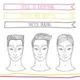 Knap jonge mensenkapsel Manier, schoonheid, thema stock illustratie