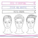 Knap jonge mensenkapsel Manier, schoonheid, thema royalty-vrije illustratie