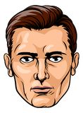 Knap mannelijk gezicht stock illustratie