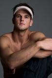 Knap mannelijk model Stock Foto's