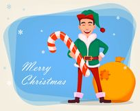 Knap Santa Claus-helperelf royalty-vrije illustratie