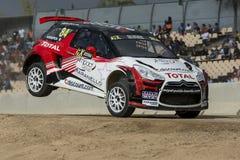 KNAPICK Citroà «ν DS3 Κόσμος Rallycross FIA της Βαρκελώνης Στοκ Εικόνες