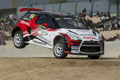 KNAPICK Citroà 'n DS3 Barcelona FIA świat Rallycross Zdjęcie Stock