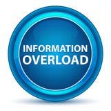 Knapp för ögonglob för informationsöverbelastning blå rund royaltyfri illustrationer