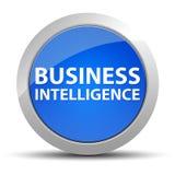 Knapp för blått för affärsintelligens rund stock illustrationer