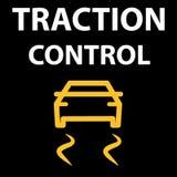 Knapp för dragkraftkontrollsystem För kodtester för bil DTC fel Symbolsvektorillustration EPS 10 stock illustrationer