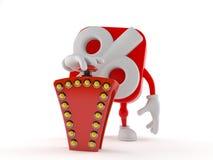 Knapp för frågesport för procentsatstecken driftig royaltyfri illustrationer