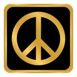 Knapp för fredsymbol Arkivfoto