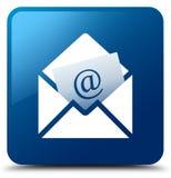 Knapp för fyrkant för blått för informationsblademailsymbol royaltyfri illustrationer