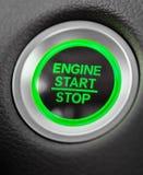 Knapp för gräsplan för bil för motor för startstopp royaltyfri fotografi