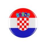 Knapp för Kroatien 3d Royaltyfri Fotografi