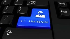 361 Knapp för Live Service Round Motion On datortangentbord arkivfilmer