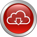 Knapp för molnrengöringsduksymbol royaltyfri illustrationer