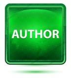 Knapp för Neon Light Green författare fyrkant vektor illustrationer