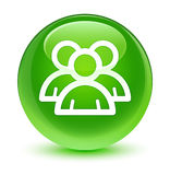 Knapp för runda för gräsplan för gruppsymbol glas- Arkivfoton