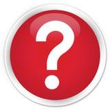 Knapp för symbol för frågefläck högvärdig röd rund Royaltyfri Bild