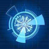 Knapp för teknologi för vektorabstrakt begreppblått Fotografering för Bildbyråer