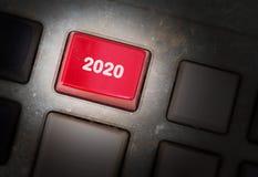 Knapp för text 2020 Arkivfoto