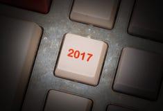 Knapp för text 2017 Fotografering för Bildbyråer
