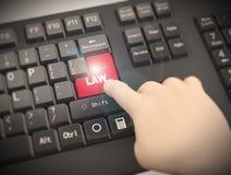 knapp för trängande lag för finger för tangentbord 3d Royaltyfri Foto
