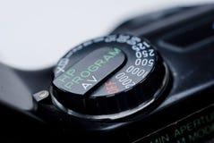 Knapp för visartavla för slutarehastighet Fotografering för Bildbyråer