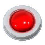 knapp isolerad röd white Fotografering för Bildbyråer