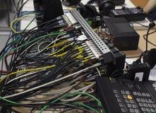 Knapp på kontrollbordtelevisionutrustningen Royaltyfria Bilder