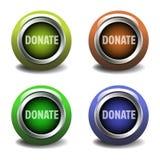 knappar donerar Fotografering för Bildbyråer
