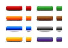 knappar färgad set rengöringsduk Arkivfoton